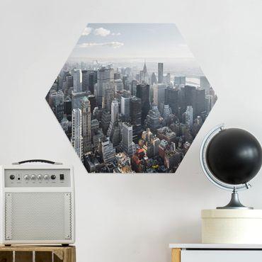 Esagono in Alluminio Dibond - Upper Manhattan New York City