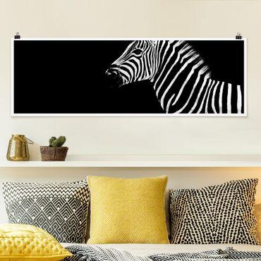 Poster - Zebra Safari Art - Panorama formato orizzontale