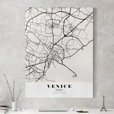 Stampa su tela - Venice City Map - Classic - Verticale 3:4