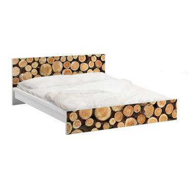 Carta adesiva per mobili IKEA - Malm Letto basso 160x200cm No.YK18 logs