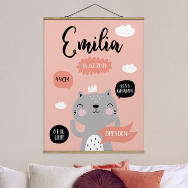 Foto su tessuto da parete con bastone - Le Parole proprietario di Happy Kitty - Verticale 4:3