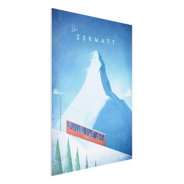 Stampa su Forex - Poster di viaggio - Zermatt - Verticale 4:3