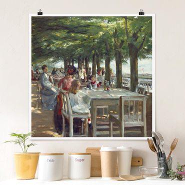 Poster - Max Liebermann - The Terrace Restaurant Jacob - Quadrato 1:1