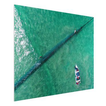 Quadro in forex - Veduta aerea - Pescatori - Orizzontale 4:3
