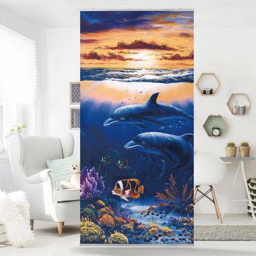 Tenda a pannello Dolphins World 250x120cm