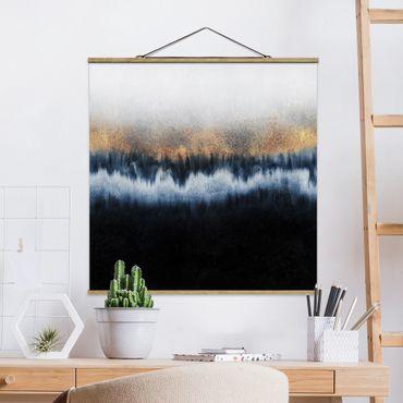 Foto su tessuto da parete con bastone - Elisabeth Fredriksson - golden Horizon - Quadrato 1:1