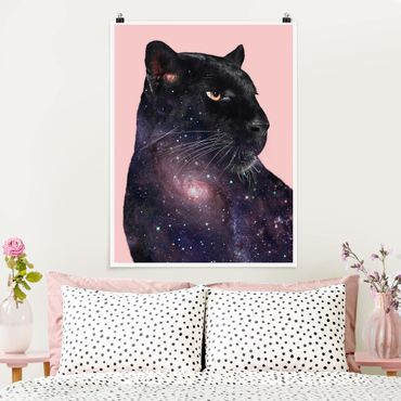 Poster - Panther Con Galaxy - Verticale 4:3