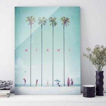 Quadro in vetro - Poster viaggio - Miami - Verticale 4:3