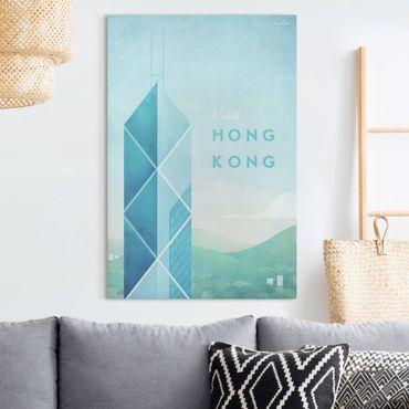 Stampa su tela - Poster Travel - Hong Kong - Verticale 3:2