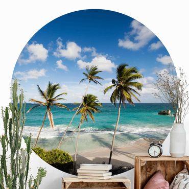 Carta da parati rotonda autoadesiva - Spiaggia di Barbados