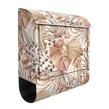 Cassetta postale - Foglie di palma beige