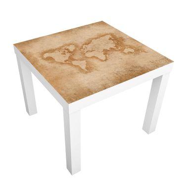 Tavolino design Antique World Map