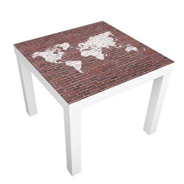 Tavolino design Brick World Map