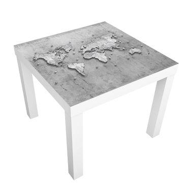 Tavolino design Concrete World Map