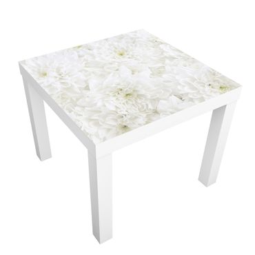 Tavolino design Dahlia flower sea white
