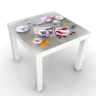 Tavolino design Edible Flowers With Lavender Sugar