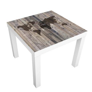 Tavolino design Wood World Map