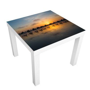Tavolino design Camels In Sunset