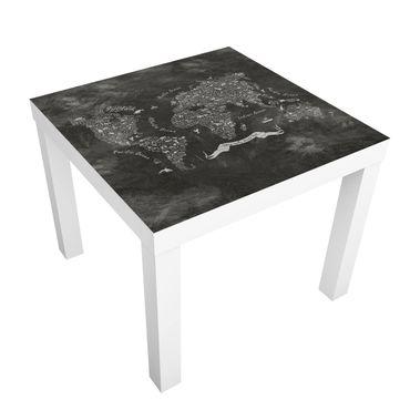 Tavolino design Chalk Typography World Map
