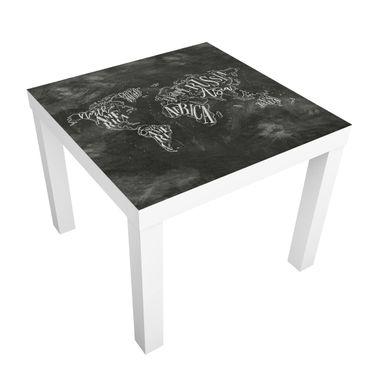 Tavolino design Chalk World Map