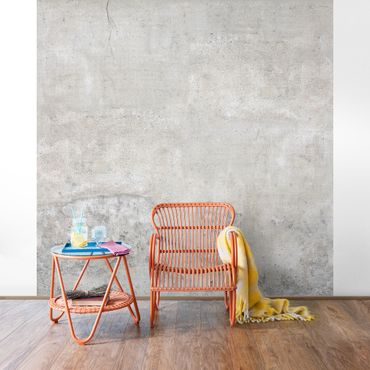 Carta da parati - Concrete Wallpaper - Shabby Plain Concrete Wall