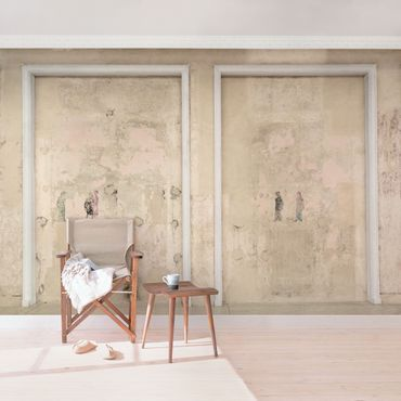 Carta da parati - Old framed Concrete Wall in Ballroom