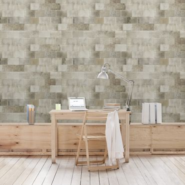 Carta da parati - Concrete Wallpaper - Concrete Slab warm
