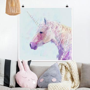 Poster - Mystic Unicorn II - Quadrato 1:1