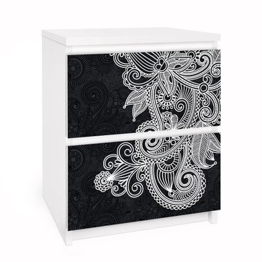 Carta adesiva per mobili IKEA - Malm Cassettiera 2xCassetti - Gothic ornament