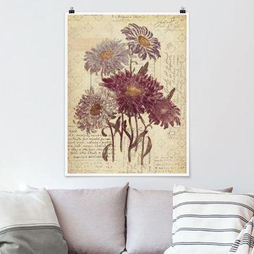Poster - Fiori dell'annata con scrittura a mano - Verticale 4:3