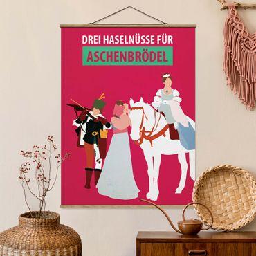Foto su tessuto da parete con bastone - Locandina cinematografica Three Wishes Per Aschebrödel - Verticale 4:3