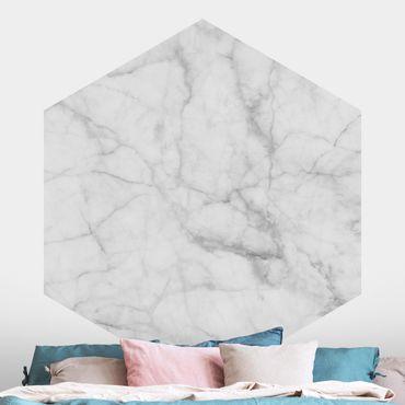 Fotomurale esagonale autoadesivo - Bianco Carrara