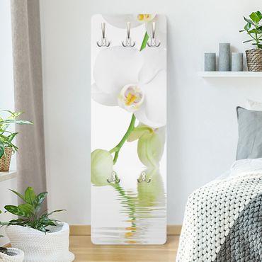Appendiabiti con fiori - Orchidee e benessere - Bianco
