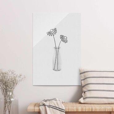 Quadro in vetro - Natura morta di fiori