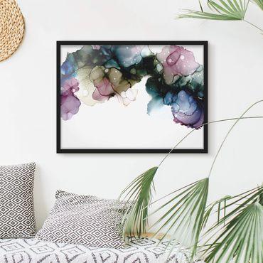 Poster con cornice - Arco di fiori con oro