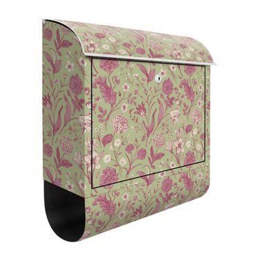 Cassetta postale - Danza floreale in verde menta e rosa pastello