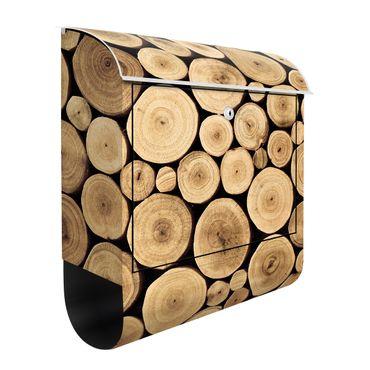 Cassetta postale Homey Firewood 39x46x13cm
