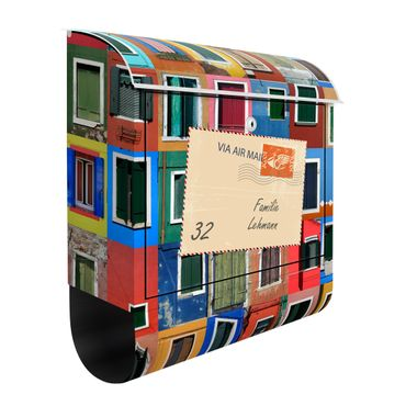 Cassetta postale personalizzata Windows Of The World 39x46x13cm