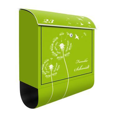 Cassetta postale personalizzata Dandelion Apple Green 39x46x13cm