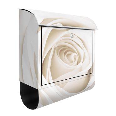 Cassetta postale Pretty White Rose 39x46x13cm