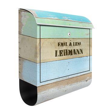 Cassetta postale personalizzata Rustic Timber 39x46x13cm