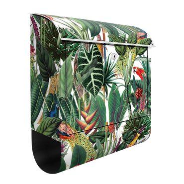Cassetta postale - Trama di foresta pluviale colorata