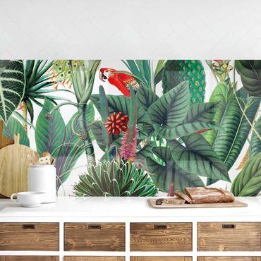 Rivestimento cucina - Trama di foresta pluviale colorata