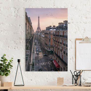 Stampa su tela - La torre Eiffel al tramonto