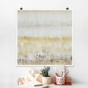 Poster - Golden Color Fields I - Quadrato 1:1