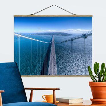 Foto su tessuto da parete con bastone - Bridge To Islanda - Orizzontale 3:4