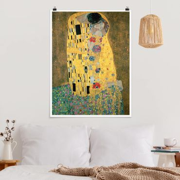 Poster - Gustav Klimt - Il bacio - Verticale 4:3