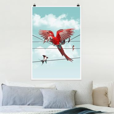 Poster - Jonas Loose - Cielo Con Uccelli - Verticale 3:2
