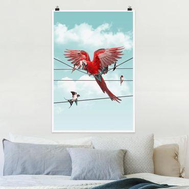 Poster - Jonas Loose - Cielo Con Uccelli - Verticale 3:2