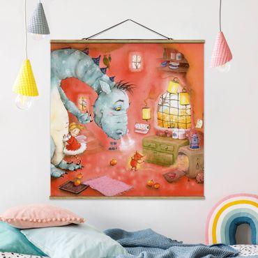 Foto su tessuto da parete con bastone - Procione Wassili - Mmm, mele al forno